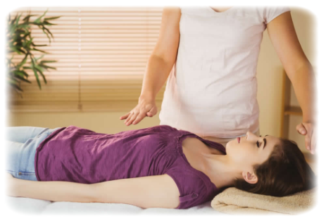 A Reiki Treatment Underway